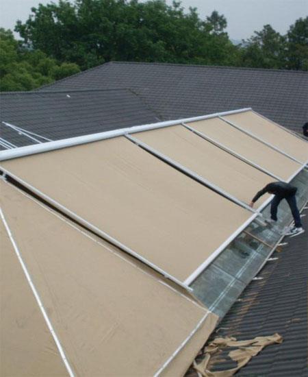 陽光房遮陽棚隔熱伸縮別墅庭院玻璃房天幕篷