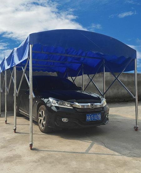 推拉蓬移動戶外倉庫棚伸縮遮陽棚折疊移動車庫大型帳篷